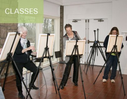 Art classes and workshops are