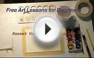 Free Art Lessons for Beginners - Painting with Watercolors