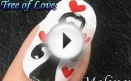 Nail Art Tutorial - Tree of Love Heart Romantic Valentines